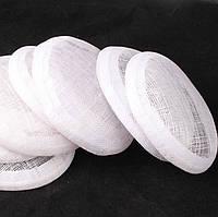 Основа Синамей для шляпки, вуалетки круглая Белая 15 см