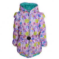 Детская демисезонная куртка-жилетка на девочку, р.116,128