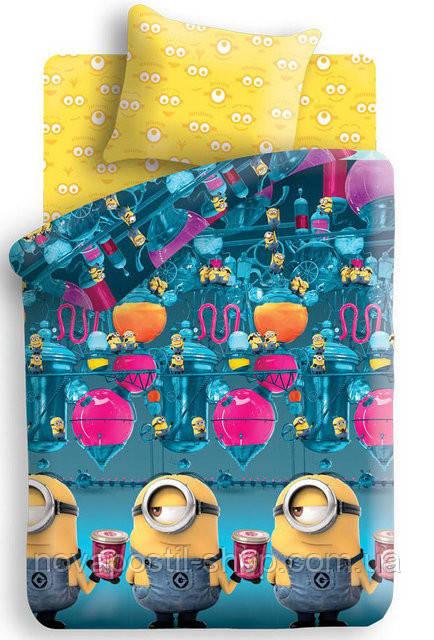 Комплект постельного белья  Миньоны Фабрика подростковый