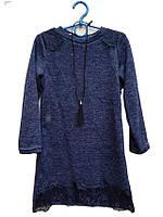 """Платье на девочку подросток """"Анжелика""""т.синее  р. 134-152"""