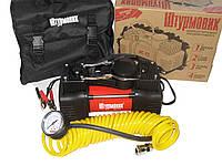 Автомобильный компрессор Штурмовик AC-72 150psi/25Amp/60л/шл/клеммы/2цил автомобильный насос для подкачки шин от прикуривателя