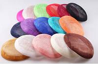 Основа Синамей для шляпки, вуалетки круглая Светло-розовая 15 см