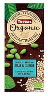 Torras ORGANIC Черный шоколад 52% какао с соевыми бобами и киноа