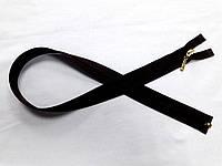 Молния спиральная № 3, 60 см (черный) разъемная с бегунком цвета золото (С3060/R)