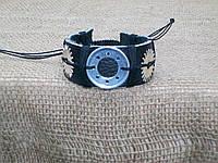 Кожаный браслет СТИМПАНК ручная работа