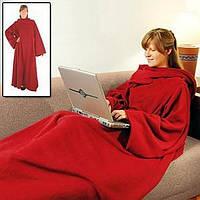 Одеяло-плед с рукавами Снагги (Snuggie) красный