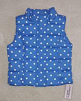 Безрукавка детская синяя в горошек Primark blue