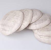 Основа Синамей для шляпки, вуалетки круглая Серая 15 см
