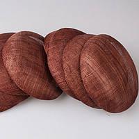 Основа Синамей для шляпки, вуалетки круглая Коричневая 15 см