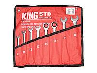 Набор ключей рожково-трещоточных 8шт King STD KSD-008