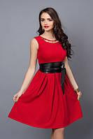 Нарядное летнее платье с поясом, фото 1