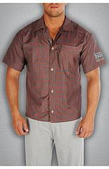 Мужская рубашка красная в клетку