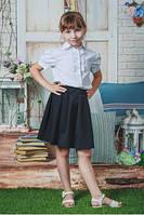 Школьная блуза белая с бантиками