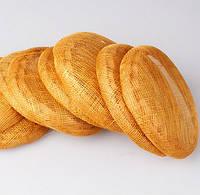Основа Синамей для шляпки, вуалетки круглая Золотая 15 см