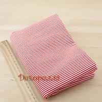 Ткань, 50*50см (красно-белая полоска)