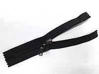 Молния спиральная № 5, 16 см (черный) неразъемная с бегунком цвета темный никель (С5016)