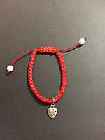Браслет красная нить с талисманом Сердце