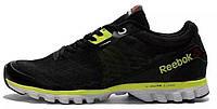 Мужские кроссовки Reebok Sublite Men's Running Shoes Black/Green (Рибок) черные/зеленые