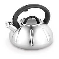 Чайник 3л из нержавеющей стали со свистком Kamille 0671A