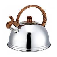 Чайник 2.7 л из нержавеющей стали со свистком Kamille 0672