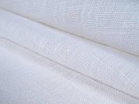 Чисто Льняная белоснежная скатертная ткань (плотная)