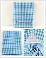 Ткань, 50*50см (бело-синяя клетка)