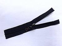 Молния спиральная № 5, 16 см (т. синий) неразъемная с бегунком цвета темный никель (С5016)