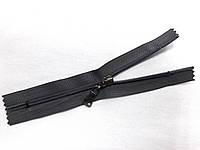 Молния спиральная № 5, 16 см (серый) неразъемная с бегунком цвета темный никель (С5016)