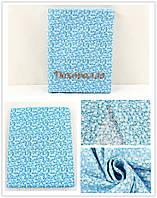 Ткань, 50*50см (белые цветочки на синем)