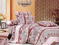 Евро набор постельного белья в коричневых оттенках 146