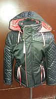 Демисезонная куртка для мальчика-подростка комбинированного кроя