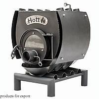 Печь булерьян отопительно варочная со стеклом и перфорацией Hott (Хотт) Тип-00 -100 м3