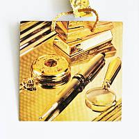 Подарочный пакет ЧАШКА 16х16х7,5 Золотой набор