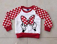 Джемпер для Девочки Минни Горох Цвет Красный Рост 86-92 см