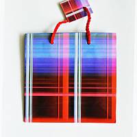 Подарочный пакет ЧАШКА 16х16х7,5 Клетка