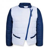 Детская демисезонная куртка Катрин для девочки, белая, р.92-122
