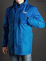 Весенняя | осенняя голубая мужская парка Staff double blue M L