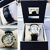 Модные наручные часы унисекс с черным ремешком