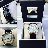 Модные наручные часы унисекс с черным ремешком, фото 1