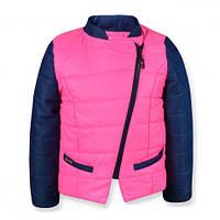 Детская демисезонная куртка Катрин для девочки, розовая, р.92-122