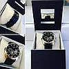 Модные часы унисекс с черным ремешком