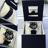 Модные часы унисекс с черным ремешком, фото 1