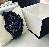 Черные наручные часы унисекс с силиконовым ремешком