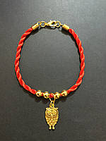 """Браслет красная нить оберег от сглаза с талисманом """"Сова"""" - символ мудрости"""