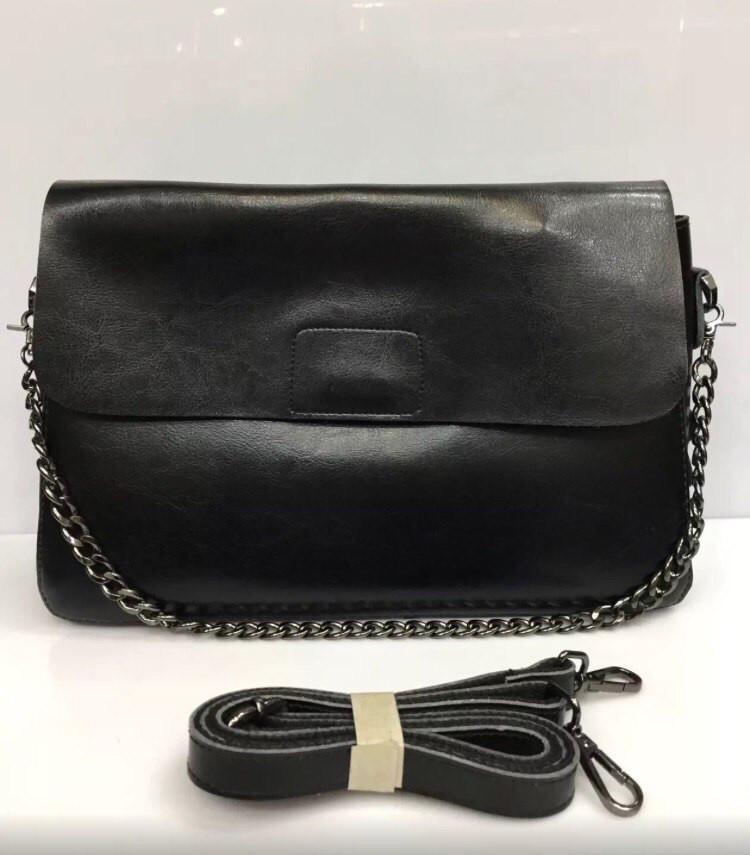 Стильная женская сумка-конверт материал натуральная кожа, цепочка и длинный  ремешок - Модный гардероб 48498d15d13