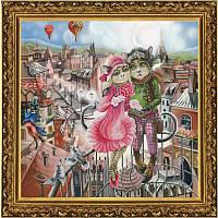 СР 1156 Любовь в Париже. Набор для вышивания нитками на канве с нанесенным фоновым рисунком