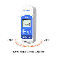 Регистратор температуры Elitech RC-5 (Великобритания) (-30 ° C - + 70 ° C) Память 32000. PDF, Word, Exel, TXT