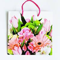 Подарочные пакет  Чашка 16х16х7,5 Ассорти из цветов