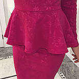 Женский стильный костюм из жаккарда (4 цвета), фото 3