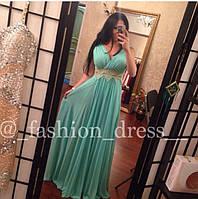 Вечернее платье в пол с ажурной летной на талии